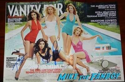 Eva Longoria Signed autograph desperate housewives magazine