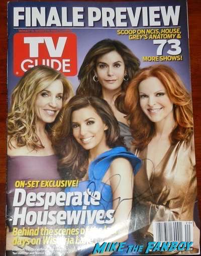 Eva Longoria Signed autograph desperate housewives magazine tv guide