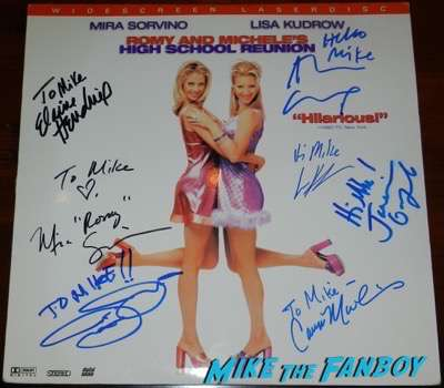 Alan Cumming signed autograph romy and michele's high school reunion laser disc poster