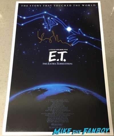 Henry Thomas signed autograph E.T. poster promo signed psa