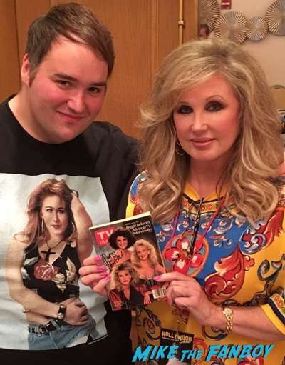Morgan Fairchild meeting fans hollywood-show-chicago-threes-company-reunion-2