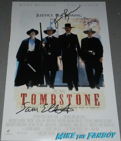 kurt russell signed autograph Tombstone poster psa