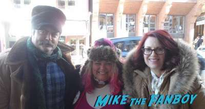 Nick Offerman and Megan Mullalley