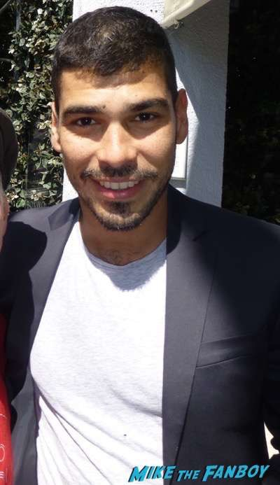 Raul Castillo -meeting fans signing autographs