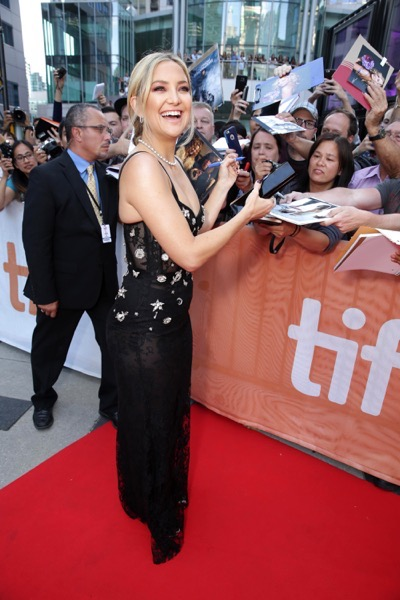 "Kate Hudson seen at Lionsgate's ""Deepwater Horizon"" premiere at the 2016 Toronto International Festival on Tuesday, Sept. 13, 2016, in Toronto. (Photo by Eric Charbonneau/Invision for LionsgateAP Images)"
