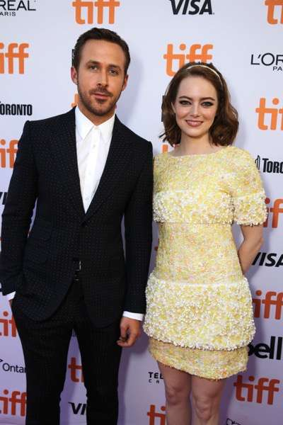 "Ryan Gosling and Emma Stone seen at Summit Entertainment's ""La La Land"" premiere at the 2016 Toronto International Film Festival on Monday, Sept. 12, 2016, in Toronto. (Photo by Eric Charbonneau/Invision for LionsgateAP Images)"