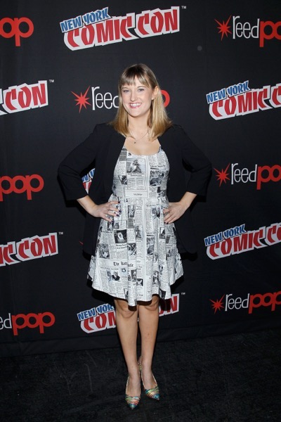 NEW YORK, NY - OCTOBER 08:  Moderator Laura Prudom poses for a photo backstage as Netflix presents Dreamworks Trollhunters during New York Comic Con at Madison Square Garden on October 8, 2016 in New York City.  (Photo by Lars Niki/Getty Images for Netflix) *** Local Caption *** Laura Prudom
