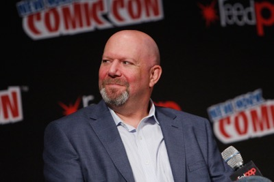 NEW YORK, NY - OCTOBER 08: Executive Producer Marc Guggenheim speaks onstage as Netflix presents Dreamworks Trollhunters during New York Comic Con at Madison Square Garden on October 8, 2016 in New York City.  (Photo by Lars Niki/Getty Images for Netflix) *** Local Caption *** Marc Guggenheim