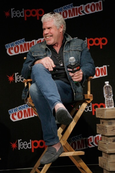 NEW YORK, NY - OCTOBER 08:  Actor Ron Perlman speaks onstage as Netflix presents Dreamworks Trollhunters during New York Comic Con at Madison Square Garden on October 8, 2016 in New York City.  (Photo by Lars Niki/Getty Images for Netflix) *** Local Caption *** Ron Perlman