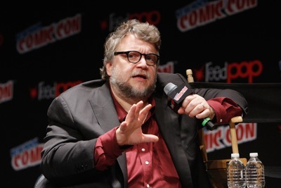 NEW YORK, NY - OCTOBER 08:  Creator and executive producer Guillermo del Toro speaks onstage as Netflix presents Dreamworks Trollhunters during New York Comic Con at Madison Square Garden on October 8, 2016 in New York City.  (Photo by Lars Niki/Getty Images for Netflix) *** Local Caption *** Guillermo del Toro