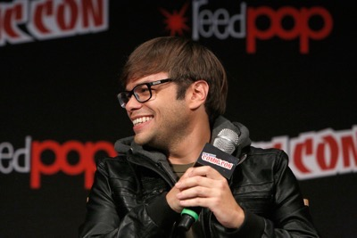 NEW YORK, NY - OCTOBER 08:  Actor Charlie Saxton speaks onstage as Netflix presents Dreamworks Trollhunters during New York Comic Con at Madison Square Garden on October 8, 2016 in New York City.  (Photo by Lars Niki/Getty Images for Netflix) *** Local Caption *** Charlie Saxton