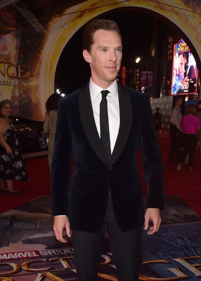 """HOLLYWOOD, CA - OCTOBER 20:  Actor Benedict Cumberbatch attends The Los Angeles World Premiere of Marvel Studiosí """"Doctor Strangeî in Hollywood, CA on Oct. 20th, 2016.  (Photo by Alberto E. Rodriguez/Getty Images for Disney) *** Local Caption *** Benedict Cumberbatch"""