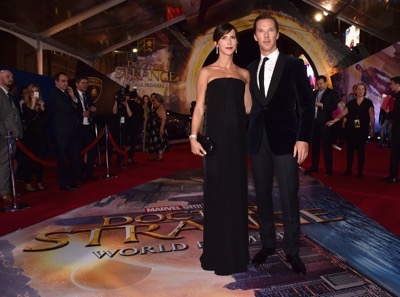 """HOLLYWOOD, CA - OCTOBER 20:  Sophie Hunter (L) and actor Benedict Cumberbatch attend The Los Angeles World Premiere of Marvel Studiosí """"Doctor Strangeî in Hollywood, CA on Oct. 20th, 2016.  (Photo by Alberto E. Rodriguez/Getty Images for Disney) *** Local Caption *** Sophie Hunter; Benedict Cumberbatch"""