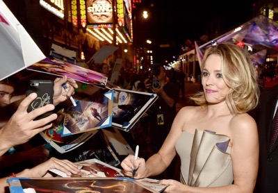 """HOLLYWOOD, CA - OCTOBER 20:  Actress Rachel McAdams attends The Los Angeles World Premiere of Marvel Studiosí """"Doctor Strangeî in Hollywood, CA on Oct. 20th, 2016.  (Photo by Alberto E. Rodriguez/Getty Images for Disney) *** Local Caption *** Rachel McAdams"""