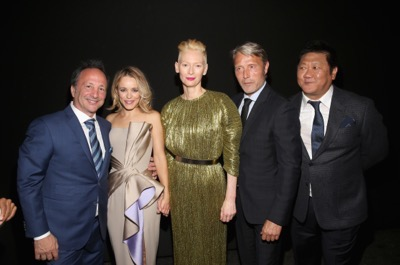 "HOLLYWOOD, CA - OCTOBER 20:  (L-R) Executive producer Louis D'Esposito, actors Rachel McAdams, Tilda Swinton, wearing Haider Ackermann, Mads Mikkelsen and Benedict Wong attend The Los Angeles World Premiere of Marvel Studiosí ""Doctor Strangeî in Hollywood, CA on Oct. 20th, 2016.  (Photo by Jesse Grant/Getty Images for Disney) *** Local Caption *** Louis D'Esposito; Rachel McAdams; Tilda Swinton; Mads Mikkelsen; Benedict Wong"