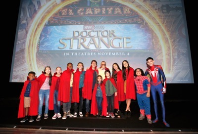"HOLLYWOOD, CA - OCTOBER 23:  Disney Channel talent attend a special screening of Marvel Studios' ""DOCTOR STRANGE"" in 3D hosted by Stan Lee at the El Capitan Theatre on October 23, 2016 in Hollywood, California.  (Photo by Rich Polk/Getty Images for Disney) *** Local Caption *** Stan Lee"