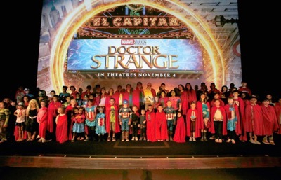"""HOLLYWOOD, CA - OCTOBER 23: Marvel fans and Disney Channel talent attend a special screening of Marvel Studios' """"DOCTOR STRANGE"""" in 3D hosted by Stan Lee at the El Capitan Theatre on October 23, 2016 in Hollywood, California. (Photo by Rich Polk/Getty Images for Disney) *** Local Caption *** Stan Lee"""
