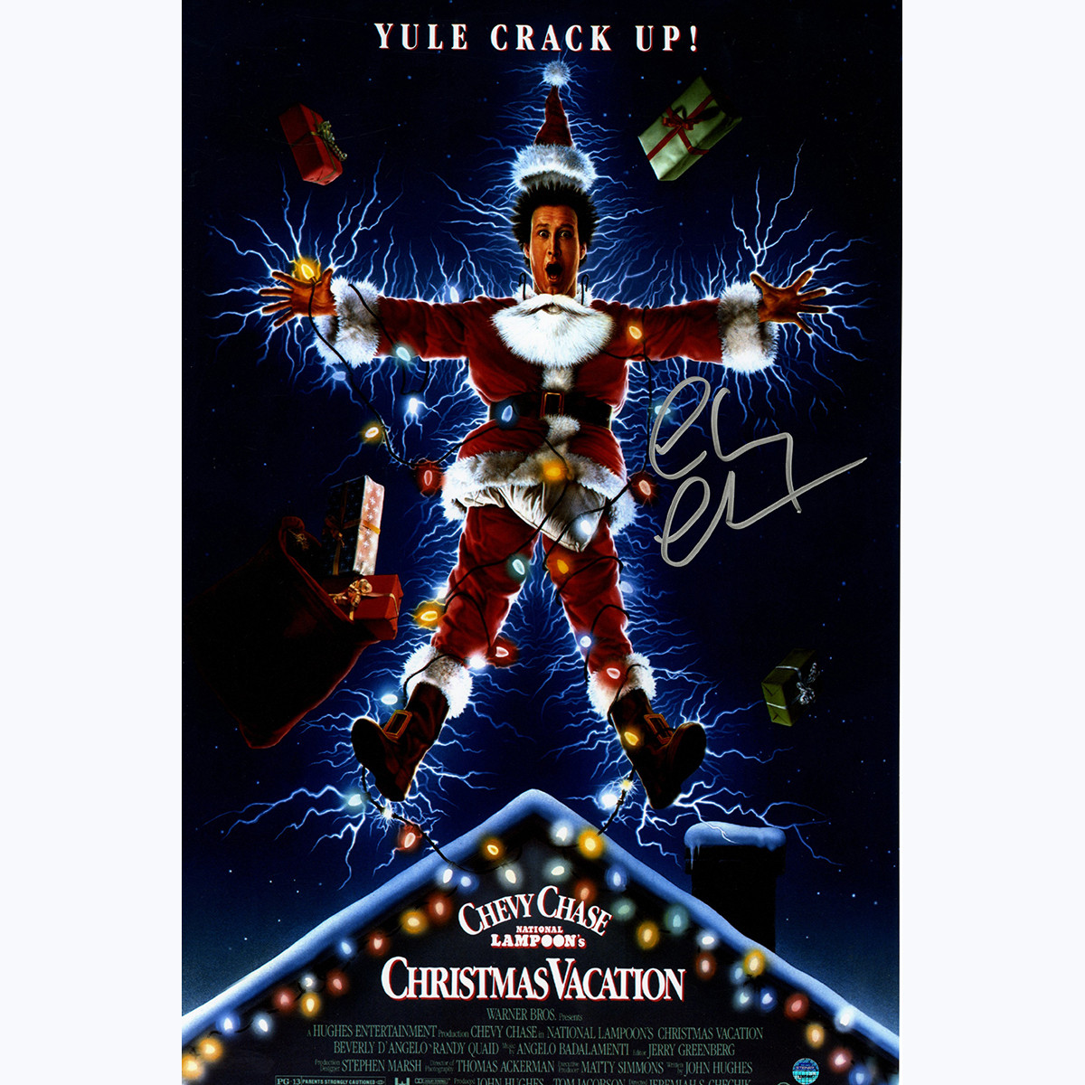 chevy chase signed poster christmas vacation