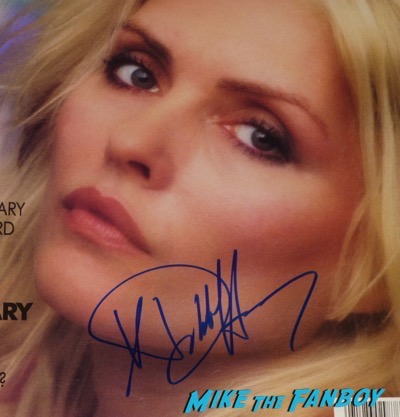 debbie harry signed autograph spin magazine cover