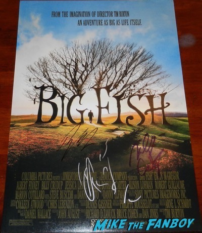 ewan-mcgregor-signed-autograph-big fish poster-psa-5