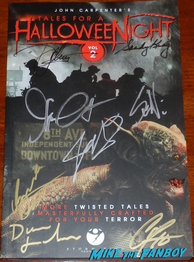 John Carpenter signed autograph tales from Halloween Vol 2