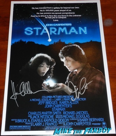 John Carpenter signed starman poster