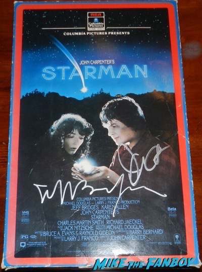 John Carpenter jeff bridges signed starman VHS mobile promo counter stand