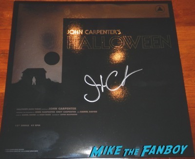 John Carpenter signed autograph halloween foil lp