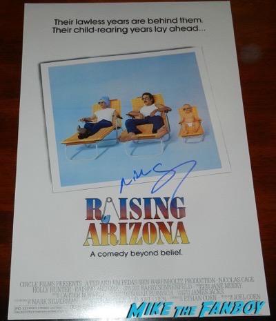 nicolas cage signed autograph raising arizona poster