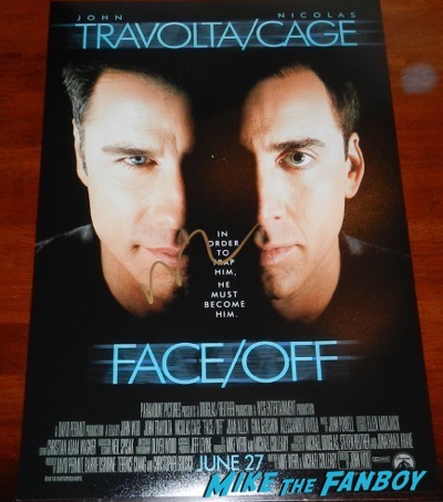 nicolas cage signed autograph face off poster