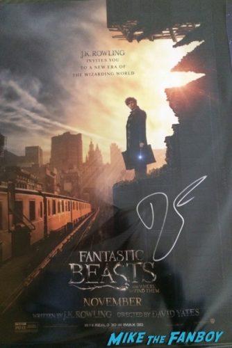 Dan Fogler fantastic beasts autograph signing NYCC 2016