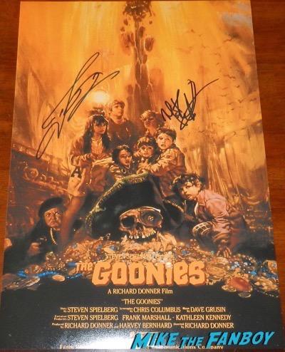 the goonies signed autograph poster martha plimpton josh brolin