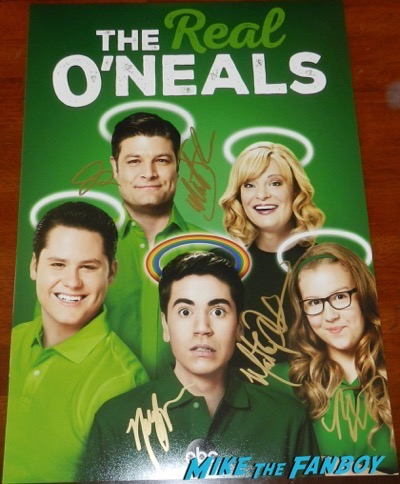 the-real-oneals-cast signed autograph season one poster martha plimpton