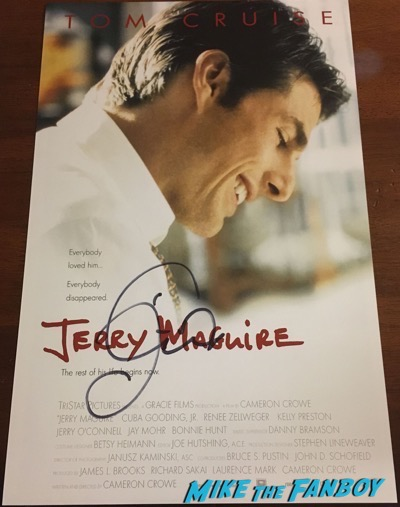 tom cruise Jerry Maguire moves signed autograph poster psa