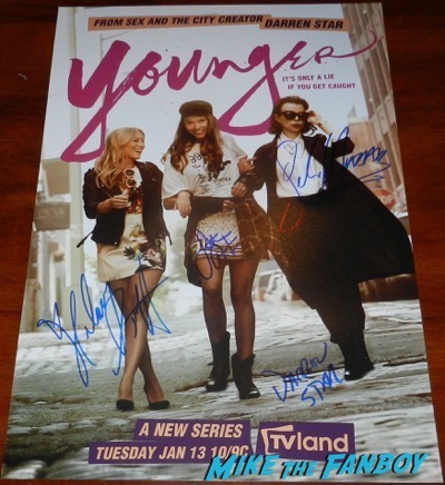 Sutton Foster Debi Mazar Hilary Duff signed autograph Young season one poster