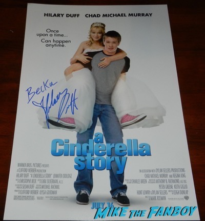 Hilary Duff signed autograph A Cinderella Story poster
