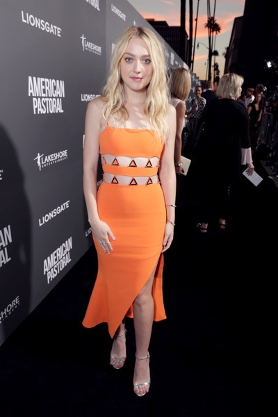 "Dakota Fanning seen at Lionsgate Los Angeles Special Screening of ""American Pastoral"" at Samuel Goldwyn Theater on Thursday, Oct. 13, 2016, in Beverly Hills, CA. (Photo by Eric Charbonneau/Invision for Lionsgate/AP Images)"