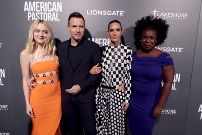 "Dakota Fanning, Director/Actor Ewan McGregor, Jennifer Connelly and Uzo Aduba seen at Lionsgate Los Angeles Special Screening of ""American Pastoral"" at Samuel Goldwyn Theater on Thursday, Oct. 13, 2016, in Beverly Hills, CA. (Photo by Eric Charbonneau/Invision for Lionsgate/AP Images)"