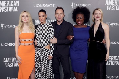 "Dakota Fanning, Jennifer Connelly, Director/Actor Ewan McGregor, Uzo Aduba and Valorie Curry seen at Lionsgate Los Angeles Special Screening of ""American Pastoral"" at Samuel Goldwyn Theater on Thursday, Oct. 13, 2016, in Beverly Hills, CA. (Photo by Eric Charbonneau/Invision for Lionsgate/AP Images)"