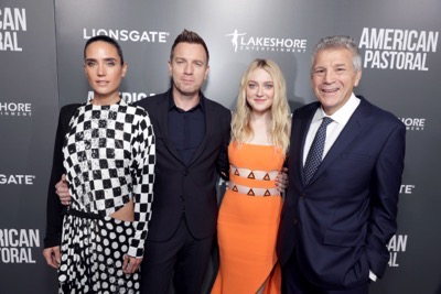"Jennifer Connelly, Director/Actor Ewan McGregor, Dakota Fanning and Writer John Romano seen at Lionsgate Los Angeles Special Screening of ""American Pastoral"" at Samuel Goldwyn Theater on Thursday, Oct. 13, 2016, in Beverly Hills, CA. (Photo by Eric Charbonneau/Invision for Lionsgate/AP Images)"