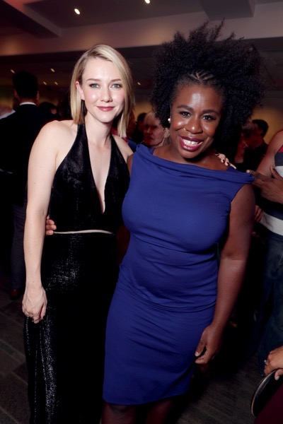 """Valorie Curry and Uzo Aduba seen at Lionsgate Los Angeles Special Screening of """"American Pastoral"""" after party at Samuel Goldwyn Theater on Thursday, Oct. 13, 2016, in Beverly Hills, CA. (Photo by Eric Charbonneau/Invision for Lionsgate/AP Images)"""