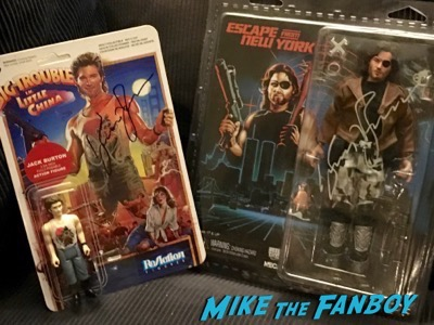 Kurt Russell Signed Autograph Escape from New York Snake Plisskin neca action figure