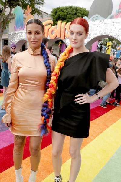 """Icona Pop seen at DreamWorks Animation and Twentieth Century Fox Present the Los Angeles Premiere of """"Trolls"""" at Regency Village Theatre on Sunday, Oct. 23, 2016, in Los Angeles. (Photo by Eric Charbonneau/Invision for Twentieth Century Fox/AP Images)"""