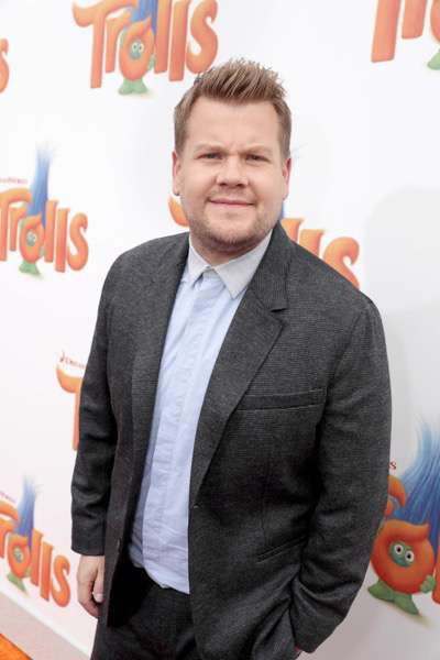 """James Corden seen at DreamWorks Animation and Twentieth Century Fox Present the Los Angeles Premiere of """"Trolls"""" at Regency Village Theatre on Sunday, Oct. 23, 2016, in Los Angeles. (Photo by Eric Charbonneau/Invision for Twentieth Century Fox/AP Images)"""