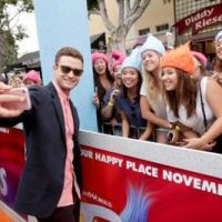 """Justin Timberlake seen at DreamWorks Animation and Twentieth Century Fox Present the Los Angeles Premiere of """"Trolls"""" at Regency Village Theatre on Sunday, Oct. 23, 2016, in Los Angeles. (Photo by Eric Charbonneau/Invision for Twentieth Century Fox/AP Images)"""
