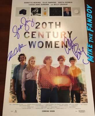20th Century Women poster signed by Annette Benning Billy crudup Gretta Gerwig PSA
