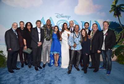 "HOLLYWOOD, CA - NOVEMBER 14: (L-R) Co- Director Ron Clements, actors Alan Tudyk, Rachel House, Chairman, The Walt Disney Studios, Alan Horn, actors Dwayne Johnson, Auli'i Cravalho, Nicole Scherzinger, co-director John Musker, actor Temuera Morrison, Producer Osnat Shurer, Songwriter Lin-Manuel Miranda, Executive producer John Lasseter and Screenwriter Jared Bush attend The World Premiere of Disneyís ""MOANA"" at the El Capitan Theatre on Monday, November 14, 2016 in Hollywood, CA.  (Photo by Alberto E. Rodriguez/Getty Images for Disney) *** Local Caption *** Ron Clements; Alan Tudyk; Rachel House; Alan Horn; Dwayne Johnson; Auli'i Cravalho; Nicole Scherzinger; John Musker; Temuera Morrison; Osnat Shurer; Lin-Manuel Miranda; John Lasseter; Jared Bush"