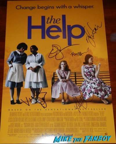 Bryce Dallas Howard signed autograph The Help poster emma stone viola davis