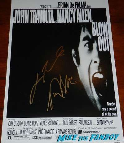 Blow Out signed autograph poster nancy allen john travolta