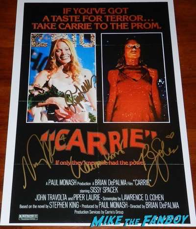Carrie poster signed autograph PJ Soles William Katt Nancy Allen Piper Laurie